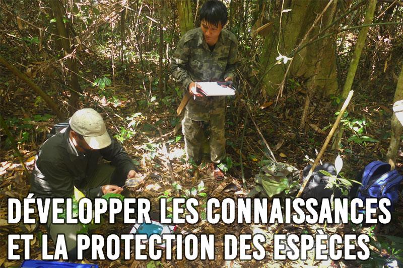 Développer les connaissances et la protection des espèces