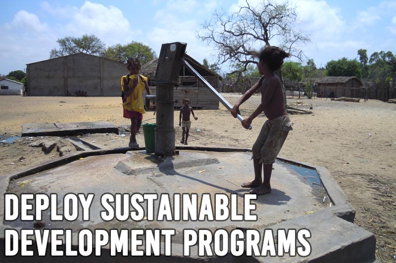 Deploy sustainable development programs