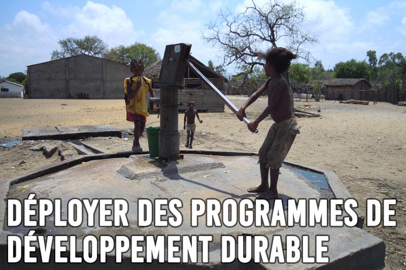 Déployer des programmes de Développement durable