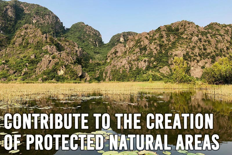 Contribute to the creation of protected natural areas